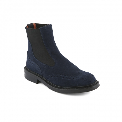 Stivaletto Tricker's in camoscio blue