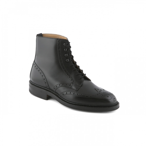 Stivaletto Crockett & Jones in pelle nera