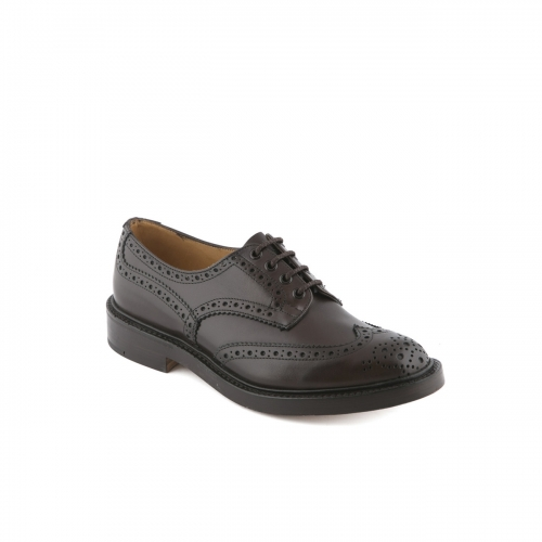 Scarpa Derby Tricker's Bourton in pelle espresso burnished