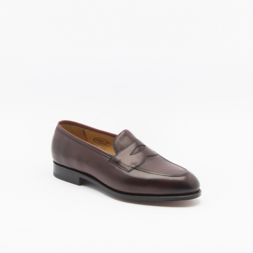 Mocassino Edward Green Piccadilly in pelle bordeaux antique