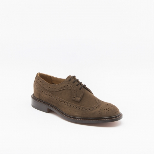 Scarpa stringata Tricker's Richard in camoscio castorino new brown