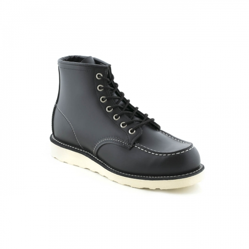 Polacco stringato Red Wing Classic Moc in pelle nera