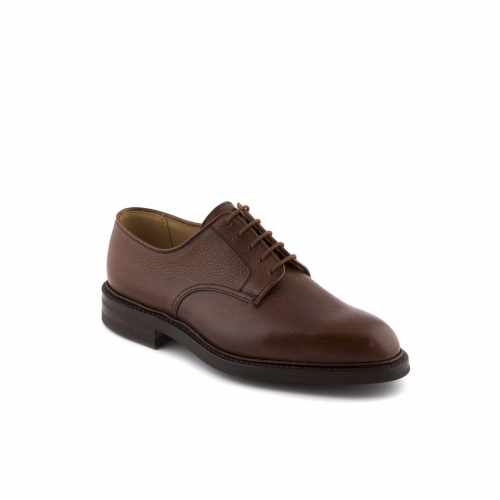 Scarpa stringata Crockett & Jones Grasmere in pelle Tan Scotch Grain