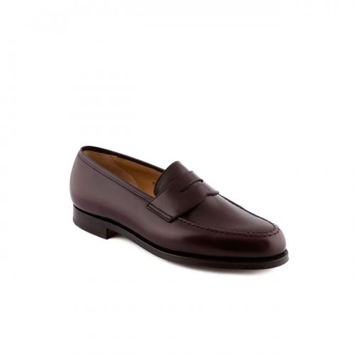 Mocassino Crockett & Jones Boston in pelle burgundy cavalry con mascherina