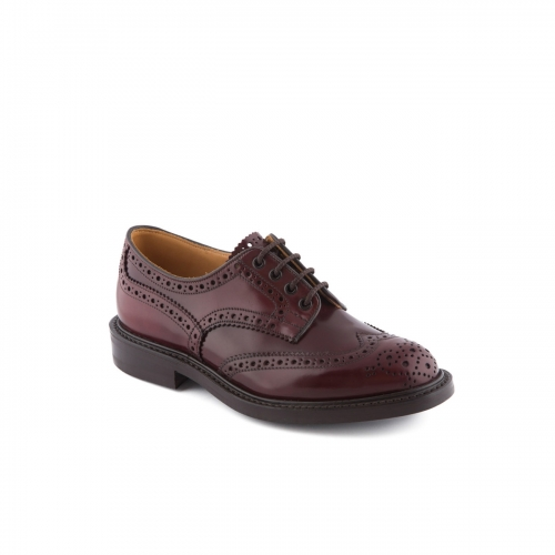 Scarpa stringata Tricker's Bourton in pelle cordovan bordeaux