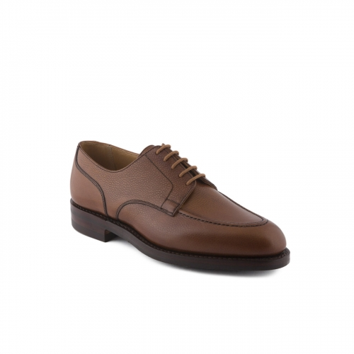 Scarpa stringata Crockett & Jones Onslow in pelle tan scotch grain