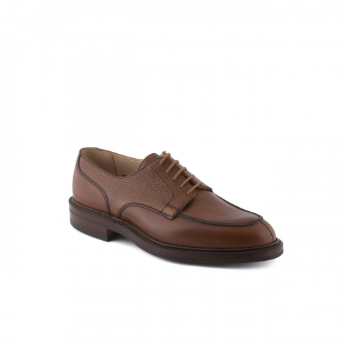 Scarpa stringata Crockett & Jones Durham in pelle tan scotch country grain