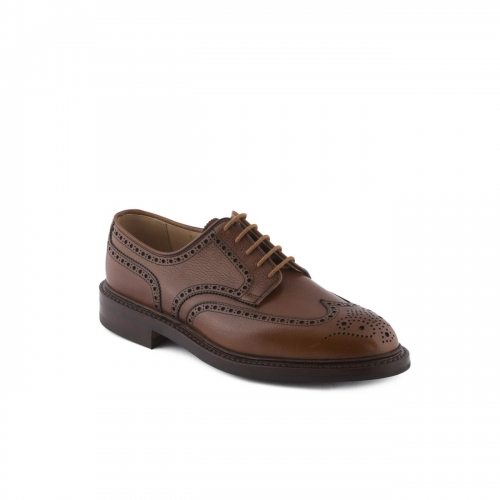 Scarpa stringata Crockett & Jones Pembroke in pelle tan scotch country grain