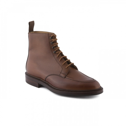 Polacco stringato Crockett & Jones Galway 2 in pelle tan scotch country grain