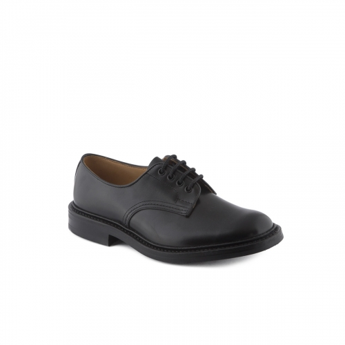 Scarpa stringata Tricker's Daniel in pelle box nera