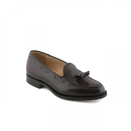 Mocassino Church's Keats in pelle polished binder burgundy con nappine