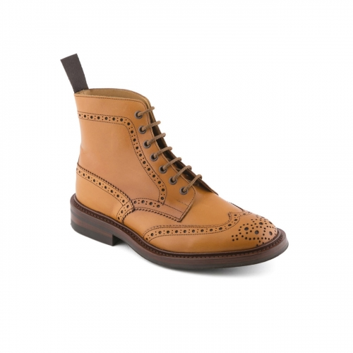 Boot lace-up Tricker's Stow in acorn antique leather