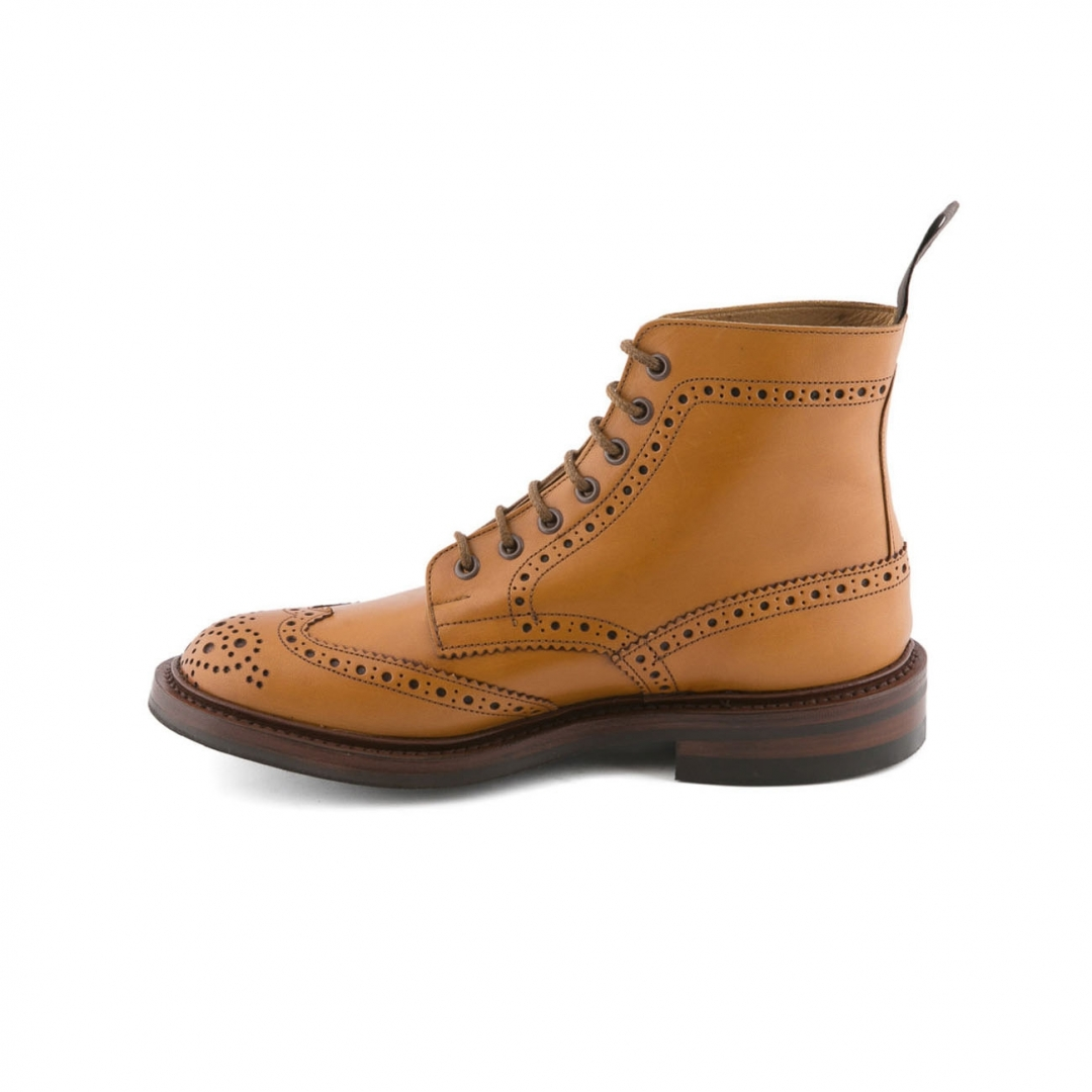 Polish Tricker S Stow In Acorn Antique Leather