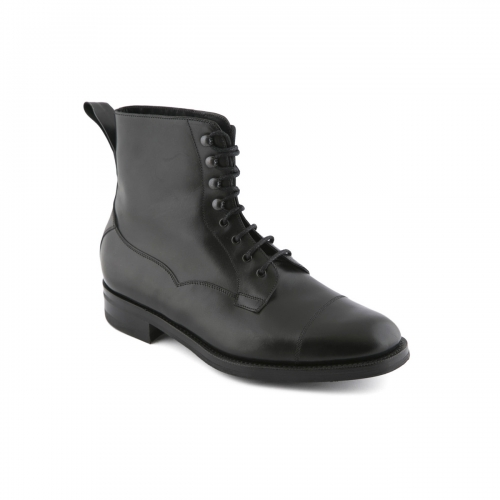 Lace-up ankle boot Edward Green Galway in black calf