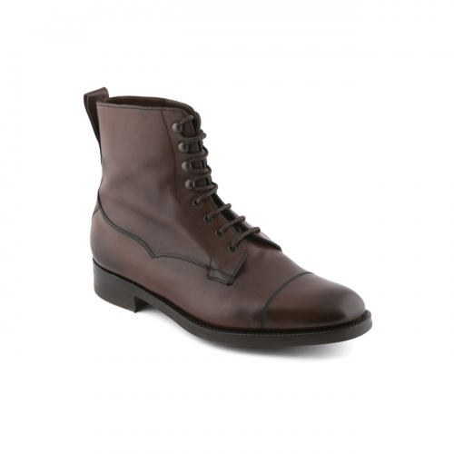 Lace-up boot Edward Green Galway in dark oak antique leather