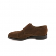 Shoe John Lobb William fit F in parisian brown suede with double buckle