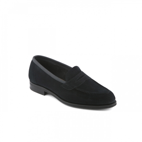 Edward Green navy loafer