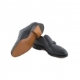 Shoe John Lobb William in navy calf with double buckle