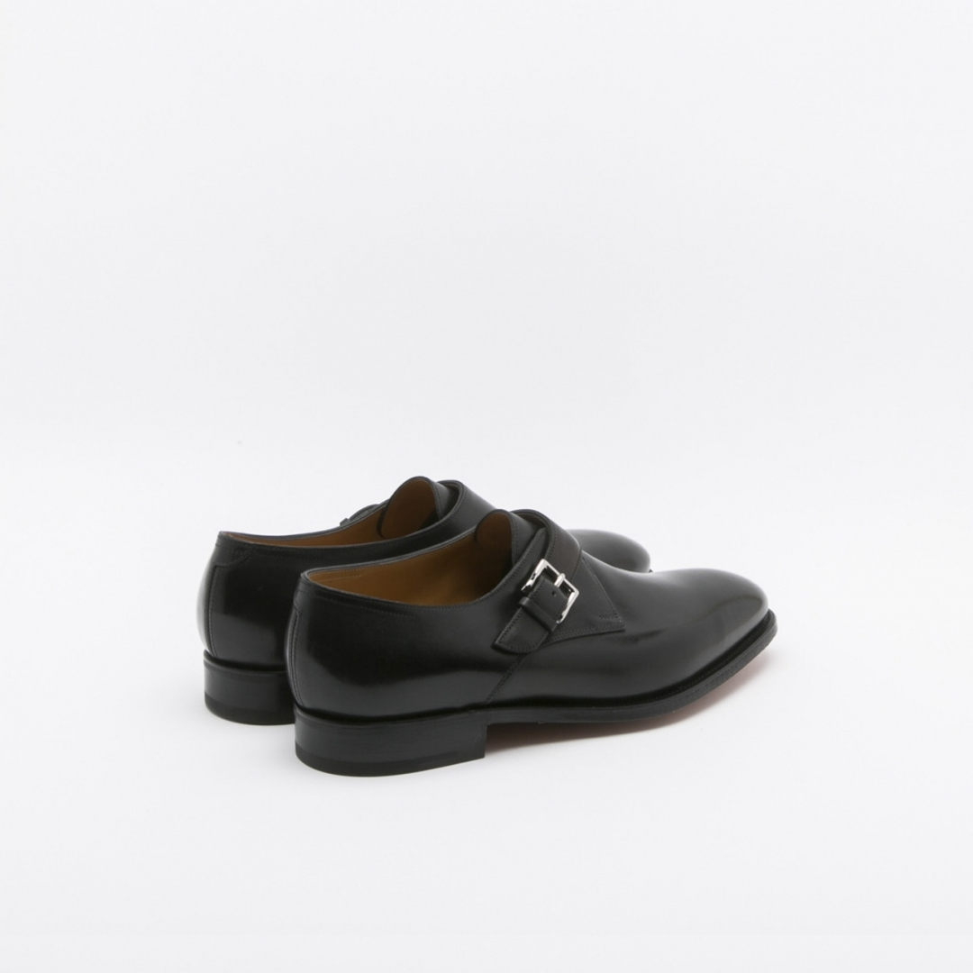 John Lobb Ashill Shoe Fit Ee In Black Calf With Buckle