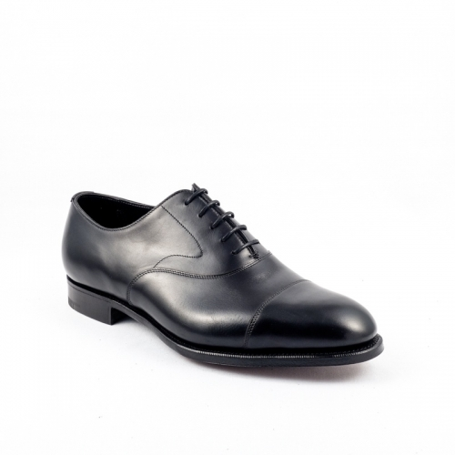 Edward Green Chelsea lace-up shoe in black calf