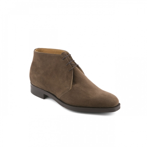 Edward Green Warwick ankle boot in mole suede