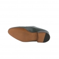 John Lobb William shoe with double-buckle in green buffalo leather