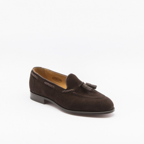 Edward Green Belgravia loafer in mocca suede