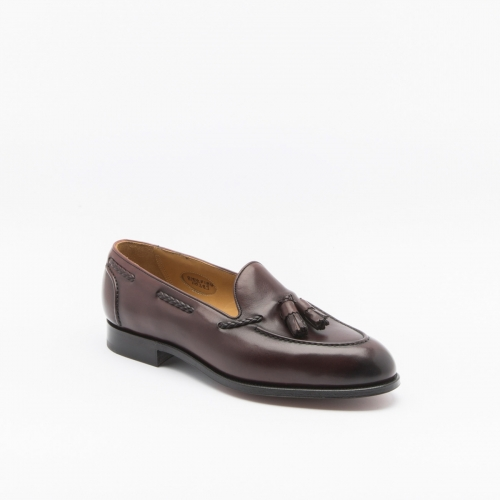 Edward Green Belgravia loafer in burgundy antique leather