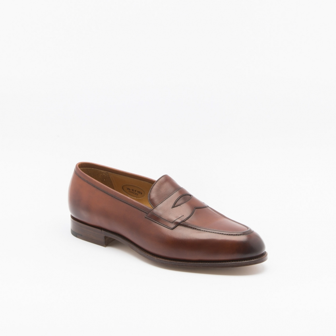 Edward Green Piccadilly Loafer In Redwood Antique Calf