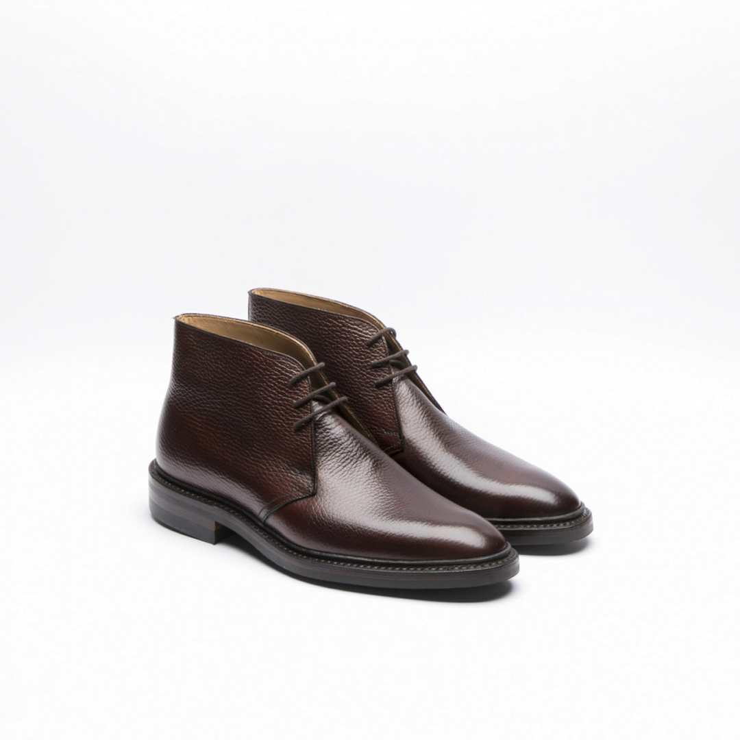 Crockett Amp Jones Brecon Dark Brown Country Grain Calf