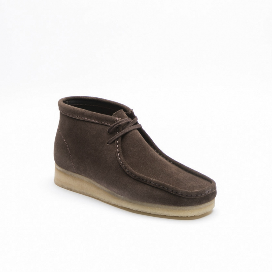 8efaaa991 Clarks Wallabee dark brown suede ankle boot. Loading zoom