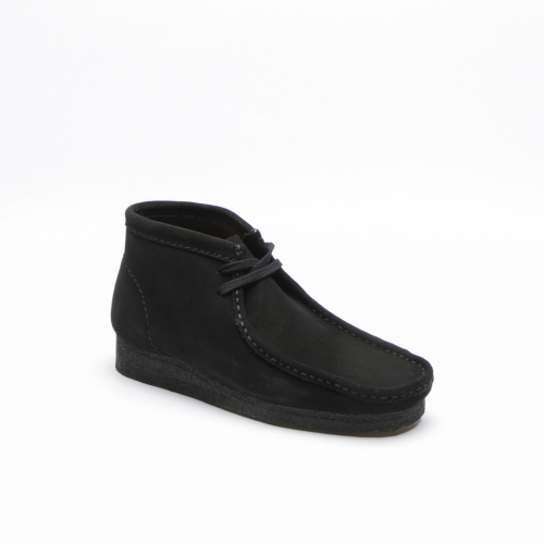 Clarks Wallabee black suede ankle boot