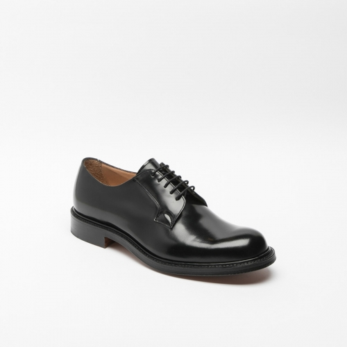 Cheaney Wye II lace-up in black polish leather