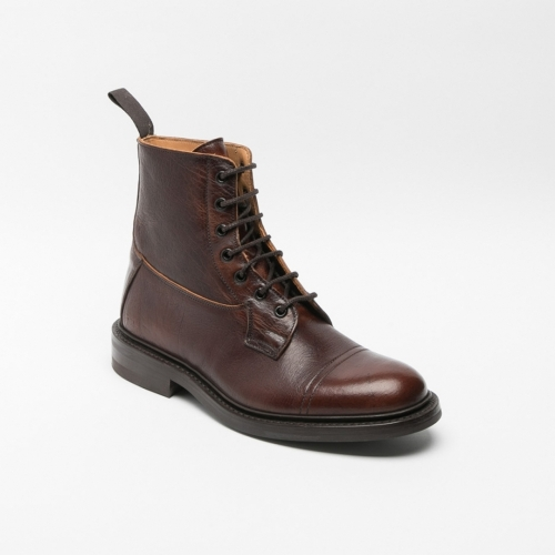 Tricker's Grassmere lace-up ankle boot in caramel leather