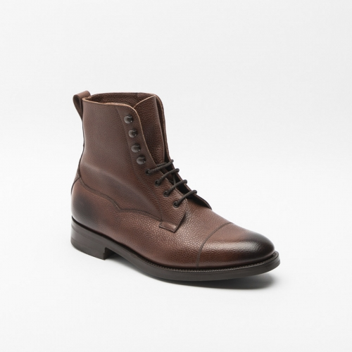 Boot lace-up Edward Green Galway in mahogany country leather