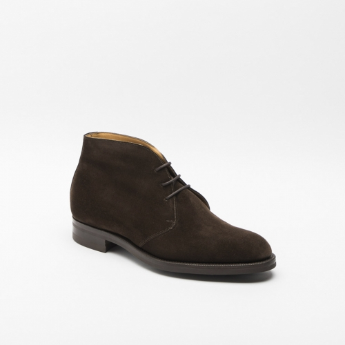 Edward Green Banbury mink suede ankle boot