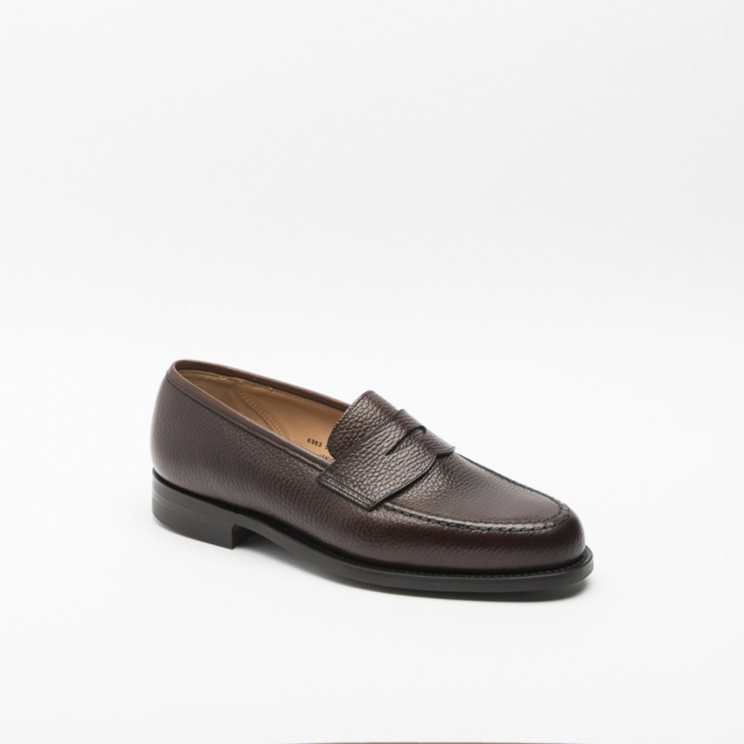 f32c452684c ... Boston loafer in dark brown country grain leather. Loading zoom