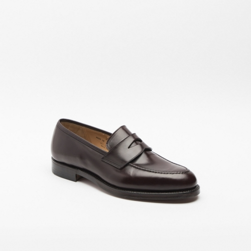 Mocassino Crockett & Jones Henley in cordovan burgundy con mascherina