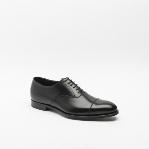 Scarpa stringata Crockett & Jones Lonsdale in pelle nera