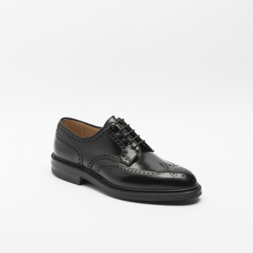 Scarpa stringata Crockett & Jones in pelle cavalry nera