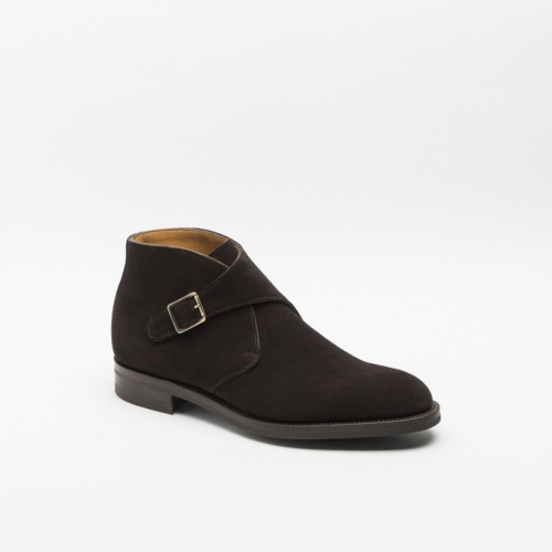 Edward Green Ravenstone ankle boot in espresso suede
