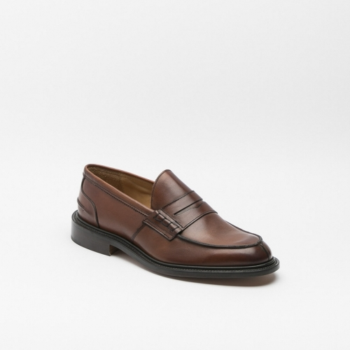 Tricker's James loafer in chestnut burnished calf with trim