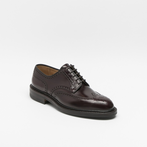 Scarpa stringata Crockett & Jones Pembroke in pelle cavalry rosso borgogna