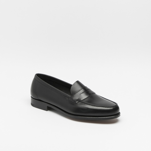 Edward Green Duke black calf loafer