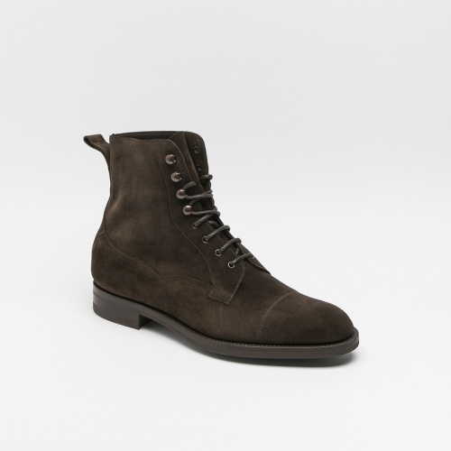 Edward Green Galway mocca suede lace-up ankle boot