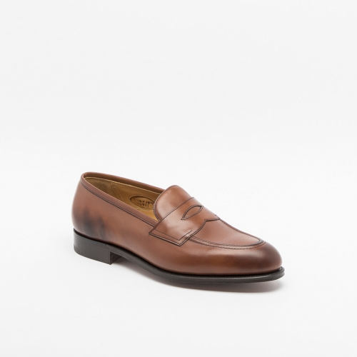 Edward Green Piccadilly chestnut calf loafer