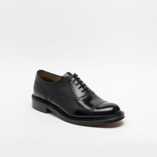 Cheaney New Market II lace-up shoe in black calf