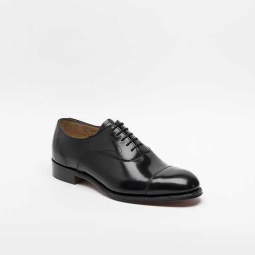 Cheaney Alfred II lace-up shoe in black polish binder leather
