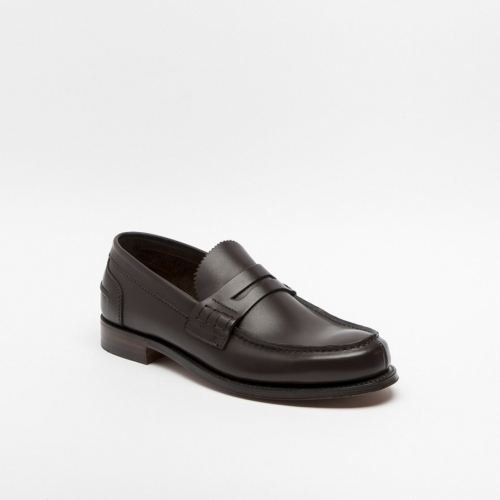 Cheaney Dover brown softee leather loafer