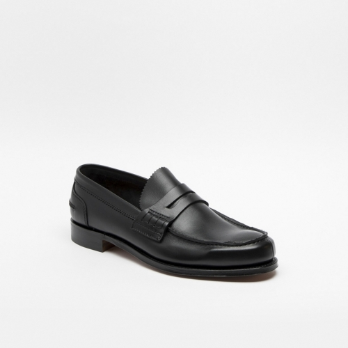 Cheaney Dover black softee leather loafer